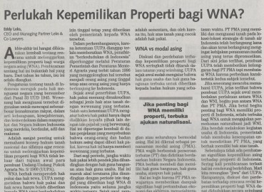 Is It Necessary Real Estate for Foreigner? (Bahasa Indonesia)